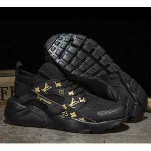 Кроссовки Nike Air Huarache Supreme Louis Vuitton черные