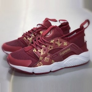 Кроссовки Nike Air Huarache Supreme Louis Vuitton красные