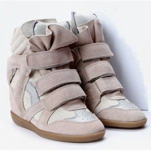 Isabel Marant Sneakers CREAM COFFEE. ДЕМИСЕЗОННЫЕ